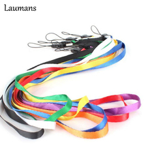 Laumans 50pcs/lot Long design lanyard strap for cell phone camera usb flash drive net silver mp3 point pen mobile lanyard