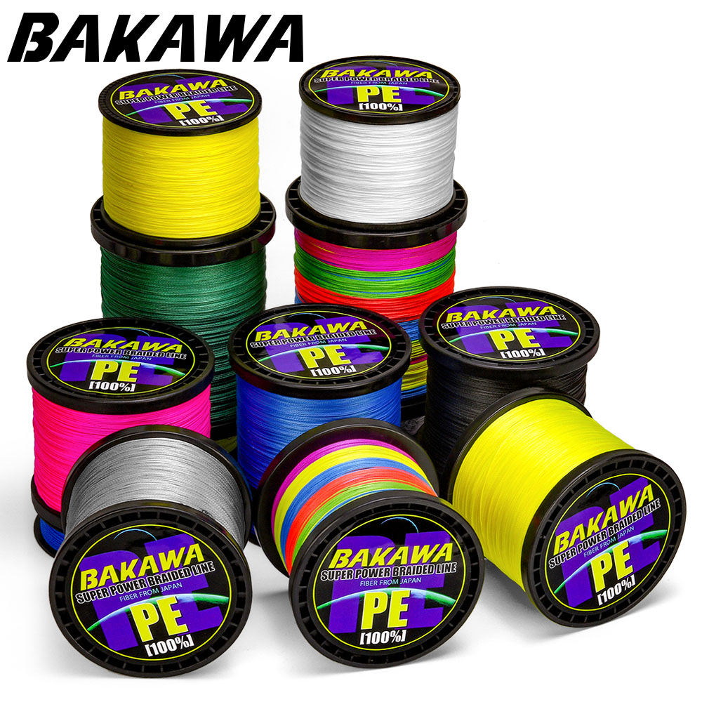 BAKAWA 300M to 1000M 8 Strands Super Strong 4 Braided Fishing Lines PE Multifilament Lines for Carp Fishing Wire Rope Cord Pesca title=