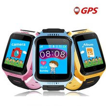 1PCS 2017 new GPS tracking watch for kids Q528 Y21 GPS Smart Watch Flashlight Camera Baby Watch touch Screen SOS Call Location(China)