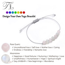 TL New Arrival Healing Bracelets Natural Moonstone Rose Crystal Lovely Yoga Bracelet Pure Clean Crystal Chakra Energy Bracelets(China)