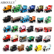 12Pcs/Lot New Magnetic Thomas and Friends Anime Wooden Railway Trains Toy Model Thomas Train Head Kid Christmas Gifts Toy
