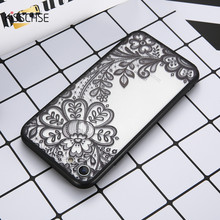 KISSCASE Phone Cases For iPhone 6 6s Plus 7 7 Plus 5 5s SE Luxury Lace Flower TPU Cover Case For iPhone 7 7 Plus 8 8 plus Coque(China)