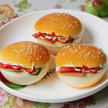 1PC Mini Hamburger bread food Home Decoration Accessories fairy miniature artificial craft quishy Refrigerator magnet