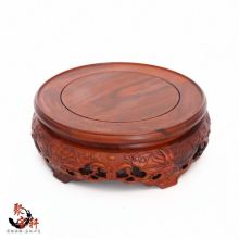 South America rosewood jade vase rotation solid wood carving handicraft mahogany base household act the role ofing is tasted(China)