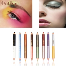 OutTop Hot 1PC Double-headed Pearling Eyeshadow Pencil Lie Silkworm Pen Durable Waterproof  Maquiagem C2017 May17