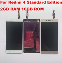 High Quality For Xiaomi Redmi 4 Standard 2GB RAM 16GB ROM LCD Screen Display+Touch Screen Digitizer for redmi 4 Normal Version