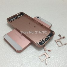 10pcs/lot High quality New Metal Middle Battery Back Housing Cover For iPhone 5 5S like SE Rose Gold color Free shipping