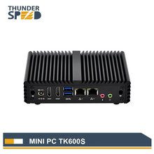 Free Shipping Fanless OEM Mini PC Windows Embedded TK600S Intel AES on CPU PFsense VPN Router(China)