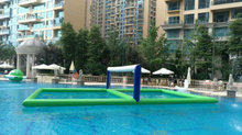 Water surface inflatable volleyball playing yard