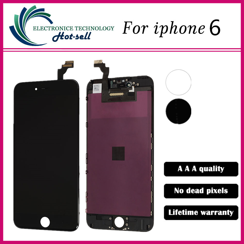 10PCS/LOT 4.7 inch ecran For Apple iPhone 6 LCD Complete Display Screen with Touch Glass Digitizer Assembly Replacement<br><br>Aliexpress