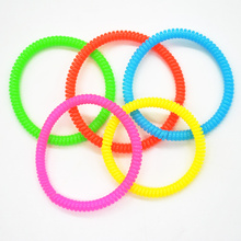 10pcs/lot Telephone Wire Line Cord Traceless Hair Ring Gum Colored Elastic Hair Bands For Girl Hair Scrunchy