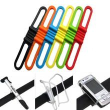 Mountain Road Bike Front Light Silicone Band Strap Cycling Torch FlashLight Phone Tie Bicycle Headlight Mount Holder Bandage