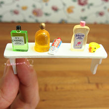 Dollhouse Miniature 1:12 Toy Bathroom Long Perfume Shelf And Bottles GM29