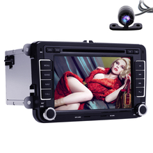 2 DIN Car DVD for VW JETTA GOLF MK5 GPS Navigation Radio USB/SD BT steering wheel monitor dvd player free 8g map&rearview camera(China)