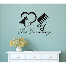 DCTOP Dog Wall Sticker Pet Grooming Salon Shop Vinyl Wall Decals Home Decor Accessories Kids Room Wall Sticker