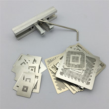 37pcs Heat Directly Rework Reball Stencils Template + BGA Reballing Kit Station For XBOX360 PS3 Game Repair