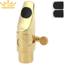 Professional Gold Plated Metal Soprano Saxophone Mouthpiece 5 for Classical Music(China)