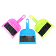 HOT-Car Keyboard Cleaning Whisk Broom Dustpan Set 3 Pcs Assorted Color(China)