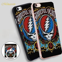 Minason grateful dead t shirt Mobile Phone Shell Soft TPU Silicon Case Cover for iPhone X 8 5 SE 5S 6 6S 7 Plus(China)