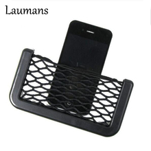 Laumans Car Net phone Bag Car Organizer Nets Automotive Pockets holder With Adhesive Visor Car Syling Bag Storage for tools