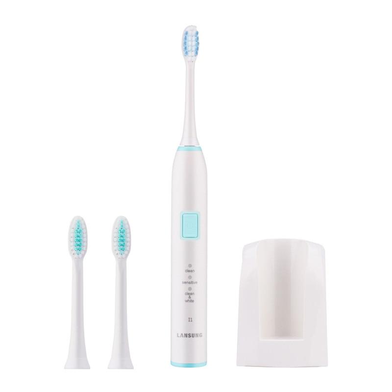 3 Modes Ultrasonic Sonic Toothbrush Magnetic Levitation Drive Teeth Brush Washable Bright Whitening Eliminate Stains Brush Heads<br>