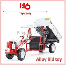 New Low Price KDW 1: 16 The Tractor Truck Engineering Car Vehicle Alloy Model Pull Back Pull Back Machine Model Kid boy Toy Gift