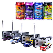 Colourful Mini Coke Can Rc Car Radio Remote Control Car Micro Racing Vehicle Electric Mini Toys for kids