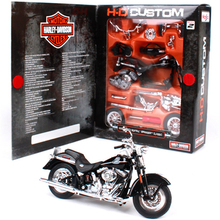 1:18 Maisto Assembly Motorcycle Model Toy Metal & ABS Harley Motorbike DIY Assemble Motor Building Kits Kids Toys Juguetes Gift