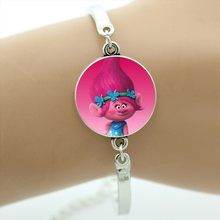 2017 New cute cartoon movie case for Trolls bracelet Ugly Fairy Poppy Branch Biggie women kids jewelry children's gifts CT02(China)