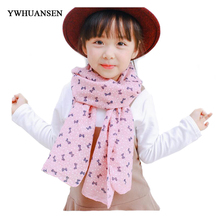 YWHUANSEN Autumn Girls Winter Sjaal Cotton and Linen Boys Winter Poncho Star Scarf For Children Cartoon Scarf Stole Dot Shawls(China)