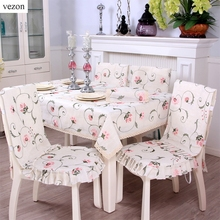 vezon Europe Elegant Linen Embroidery Floral Tablecloths Delicate Embroidered Pink Flower Lace Table Cloth Towel Cover Overlays