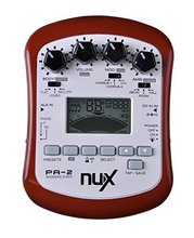 NUX PA-2 Portable Acoustic Guitar Multi-Effects Pedal Processor Flat Tuning Function(China)