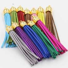 (6 pcs/lot) 88mm Full Length Golden cap Tassel with Brilliant powder Ornament,Bags accessories, DIY bracelet Fitting