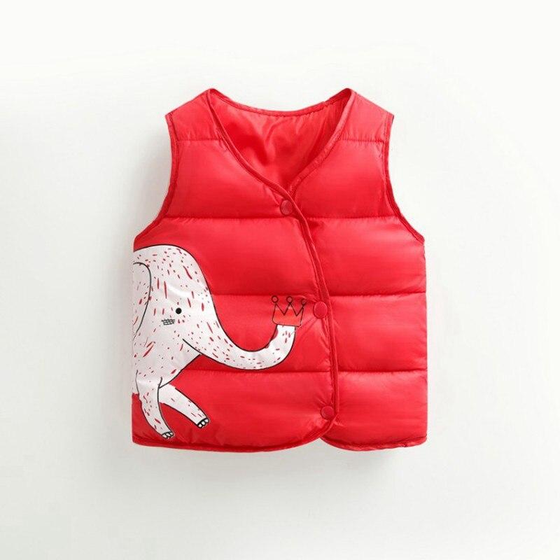 CROAL CHERIE Cotton Baby Girls Boys Winter Vest For Kids 2018 Kawaii Elephant Printing Waistcoat Children Boys Clothes 80-130cm (11)