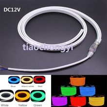120leds/m RGB SMD 2835 5050 Flex soft led neon rope strip bar light DC12V(China)
