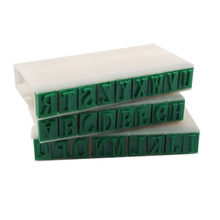 "Cool Fashion Blue 0.4"" Length Letters Detachable 26 English Alphabet Stamp Set"