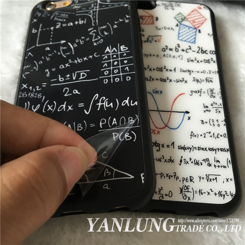 Korea Geometry Triangle Fundas Coque iPhone X SE 5 5S 6 6S 7 8 Plus Case Soft Silicon Mathematics Back Cover Phone Cases