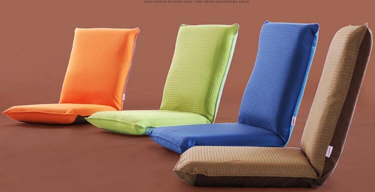 Superb Floor Portable Chair Japanese Living Room Furniture W/5 Adjustable Foldable  Upholstered Lazy Sofa Comfy