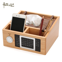 wood desk calendar box style remote storage box rack in the living room  HLM