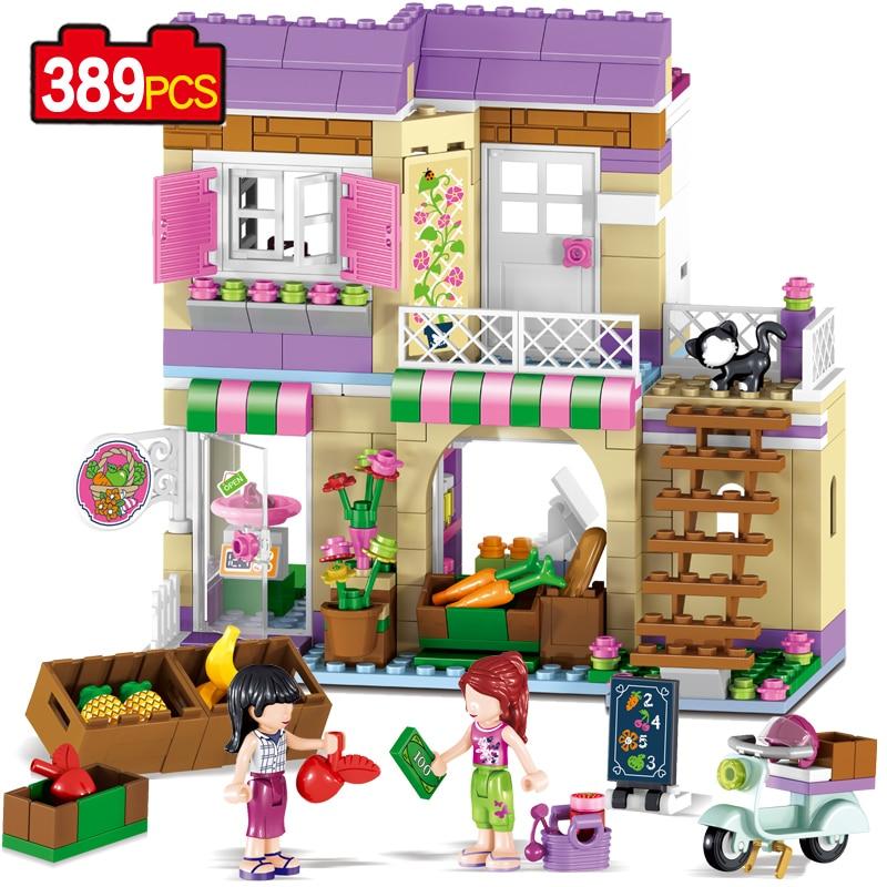 Friends Sets Building Blocks 37014 Lake Food Store Supermarket Girl Color compatible Legoe Gift Action Figure Toys For Children<br>