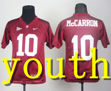 Nike 2017 Youth Alabama Crimson Tide AJ McCarron 10 College Boxing Jersey - Crimson Size S,M,L,XL(China)