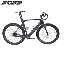 2017new FCFB Carbon Road Bike Frame Di2 and Mechanical 47/49/51cm road Frame Fork headset carbon bicycle handlebar set seddle(China)