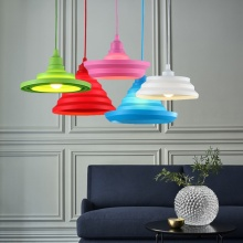 E27 Base Colorful Pendant Lamp Wire DIY Flexible Shape Silica Gel Hanging Lights Edison Bulbs LED Pendant Lighting Decor Indoor