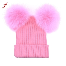 Women Winter Warm Hats Crochet Knit Hairball Beanie cap Thick Female Cap Hats for girl Casual women's hats New Fashion Wool 2017(China)