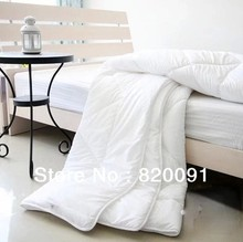 1Piece Solid Pattern white Comforter with Polyester Filler in Twin Full Queen King Size about 1.5KG for Spring-FREE SHIPPING