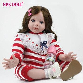 NPKDOLL 24 Pulgadas de Silicona Bebé Reborn Muñeca de Peluche de Felpa Juguetes Para Niños Regalos de Cumpleaños Niñas Muñecas de estilo de vida Marca