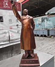 Chinese Red Bronze Copper Made famous great Mao ZeDong Mao zhu chairman Statue 2018(China)