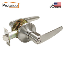 Probrico Security Door Lock With Key Stainless Steel Safe Lock DL815SNET Door Handles Entrance Locker USA Domestic Delivery(China)
