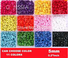 100pcs/lot Size:5mm mini size sewing button Scrapbooking bulk accessories Resinround Buttons wholesale(SS-k1002)(China)
