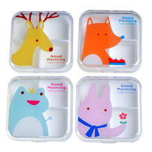 Portable Mini Cartoon Plastic Pill Box Medicine Case For Healthy Care Empty Drugs Box For False Eyelashes(China)